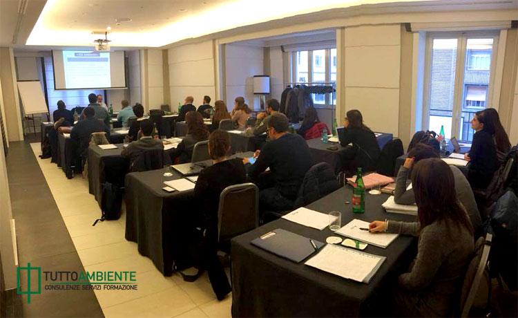 Aula di formazione corso Responsabile Tecnico Gestione Rifiuti di TuttoAmbiente