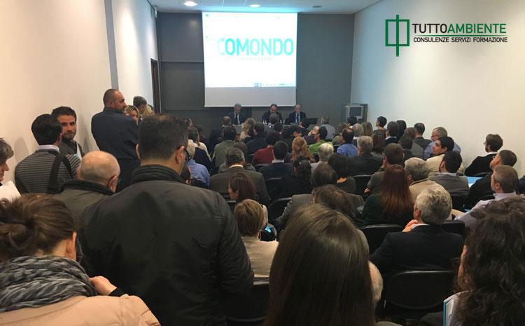 La sala dell'evento organizzato nel 2016 da TuttoAmbiente