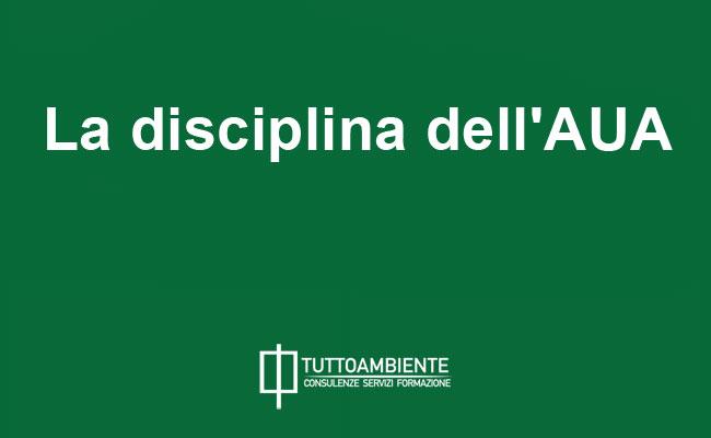 La disciplina dell'AUA