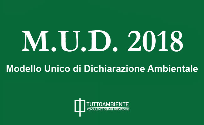 Modello Unico Dichiarazione Ambientale 2018