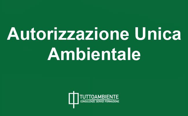 Autorizzazione Unica Ambientale