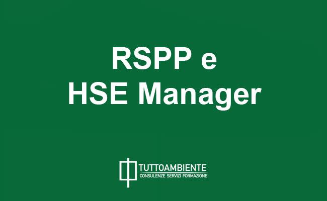 Professionisti sicurezza e ambiente HSE Manager e RSPP