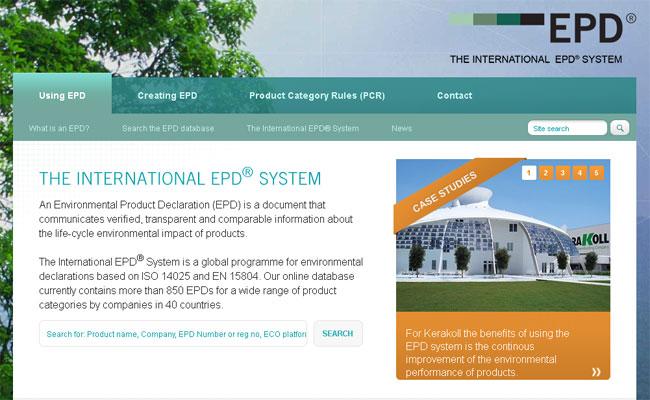 Il sito ufficiale EPD International: environdec.com