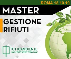 Master Gestione Rifiuti a Roma dal 18/10/2019 al 30/11/2019