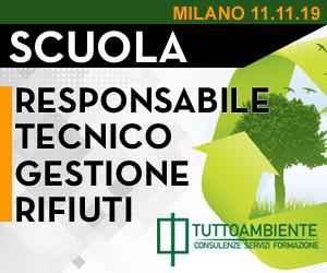 Corsi Scuola di Formazione per Responsabile Tecnico Gestione Rifiuti a Milano dal 11/11/2019