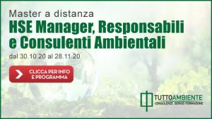Master HSE Manager, Responsabili e Consulenti Ambientali da remoto