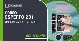 Corso Esperto 231 dal 13 ottobre al 10 novembre 2021