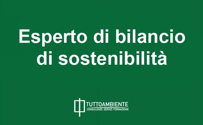 Esperto di Bilancio di Sostenibilità
