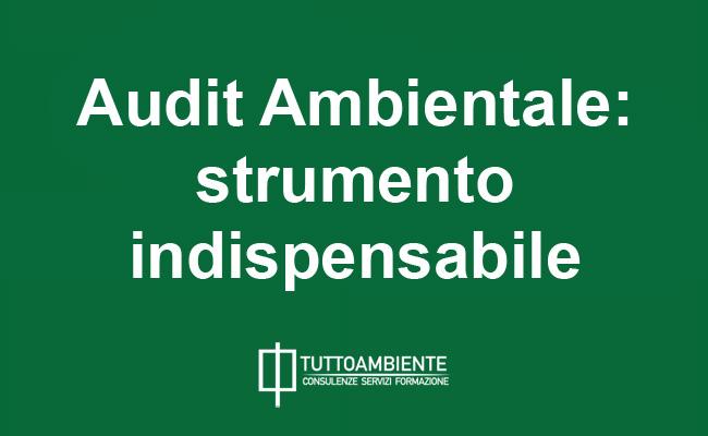 Audit Ambientale strumento indispensabile