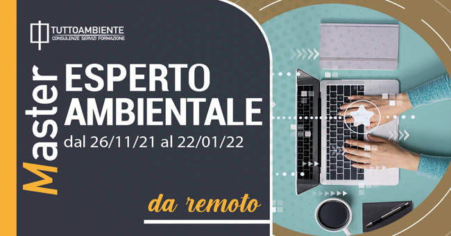 MASTER ESPERTO AMBIENTALE dal 26/11/21 al 22/01/22