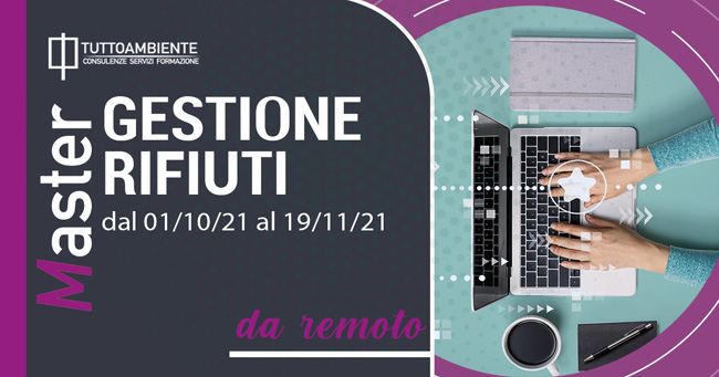 MASTER GESTIONE RIFIUTI dal 01/10/21 al 19/11/21