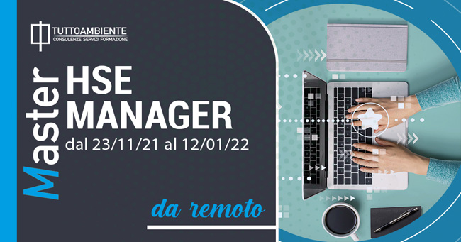 MASTER HSE MANAGER dal 23/11/21 al 12/01/22