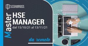 MASTER HSE MANAGER dal 15/10/21 al 13/11/21